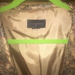 Jacket with snake skin pattern